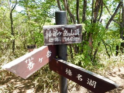 掃部ヶ岳山頂標識