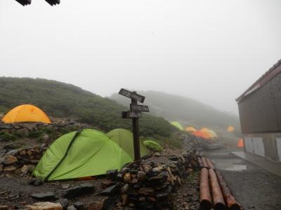 北岳山荘テン場