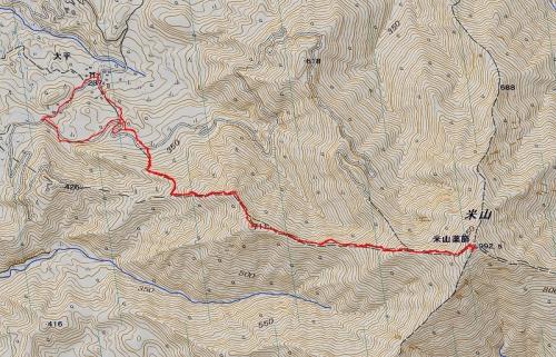 米山山軌跡