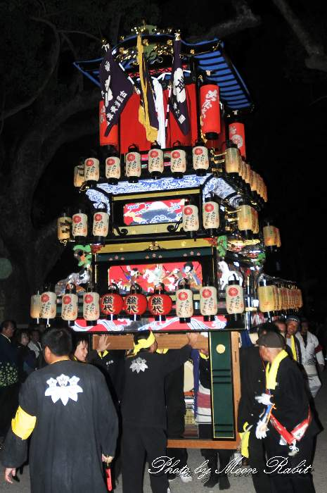 古屋敷屋台(だんじり) 宮出し 伊曽乃神社祭礼 西条祭り2013