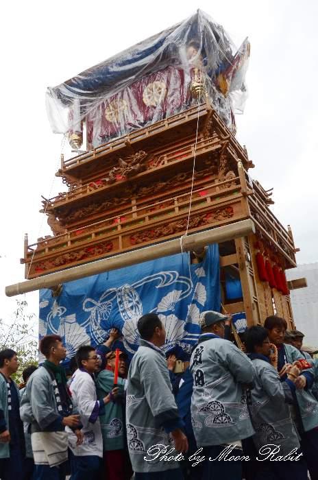 福武新田だんじり(屋台) 舁き棒 葛 かずら 御殿前 西条祭り2013