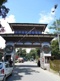 ブータン国境の門