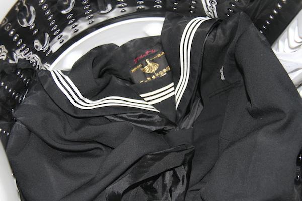 黒セーラー服 スクールパール 洗濯前 女子中学生 芋セラ 芋セーラー服