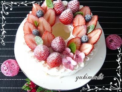 ひな祭りのシフォンケーキ♥