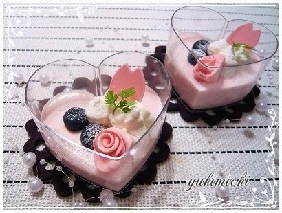 苺のレアチーズムース♥