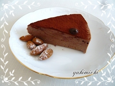 生チョコレアチーズ☆カット♥