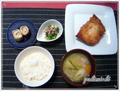カリカリ☆カレイのフライ&豚汁♥