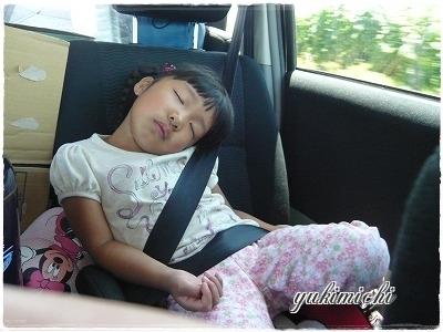 キャンプ☆寝てるあーちゃん☆東神楽
