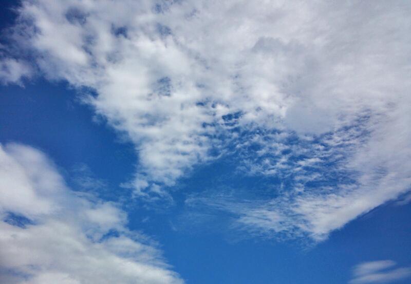 秋を感じさせる雲
