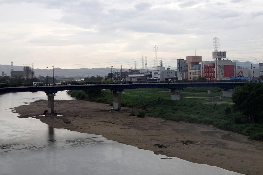 9月4日、小雨の大和川 (2)