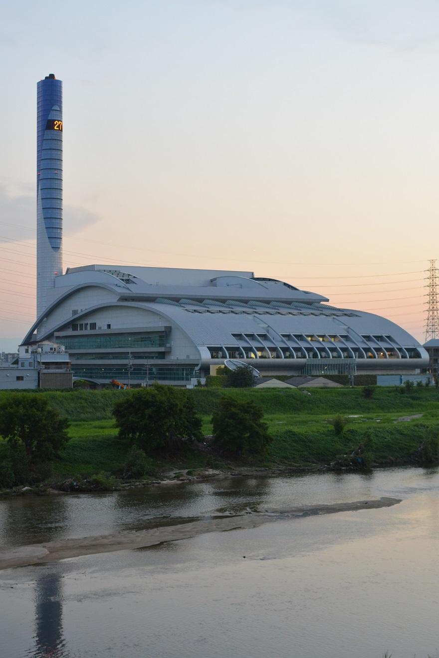 9月9日瓜破大橋からの夕景 (6)