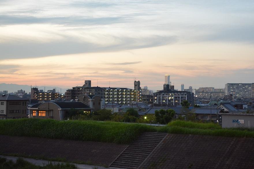 9月9日瓜破大橋からの夕景 (8)