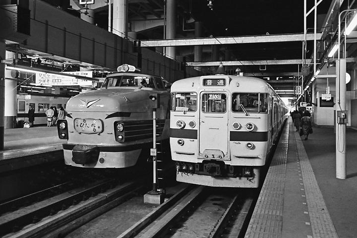 198602上野駅_特急ひたち