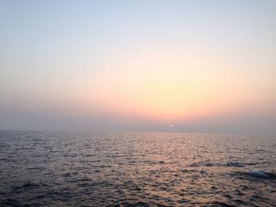 西海岸の夕日