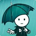 グラフィックデザインの雨音