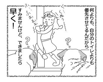 羊の国のラブラドール絵日記シニア!!「朝の最優先事項」4