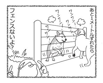 羊の国のラブラドール絵日記シニア!!「そこにフェンスがあるから」4