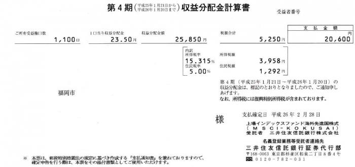 配当金(2014.2.28)