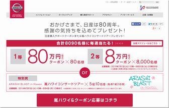 懸賞_日産80万円クーポンプレゼント_日産