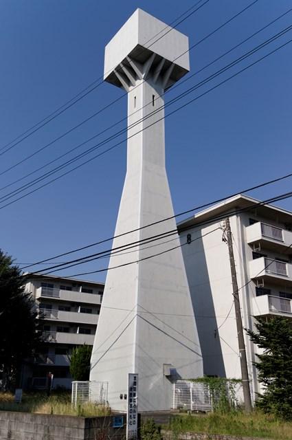 八王子大和田郵政宿舎の給水塔その2