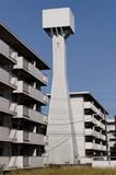 封鎖されていない八王子大和田郵政宿舎給水塔サムネイル