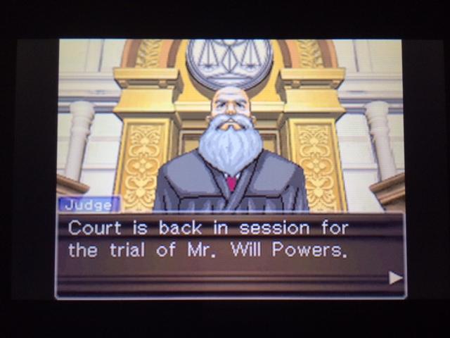 逆転裁判 北米版 コーディー入廷2