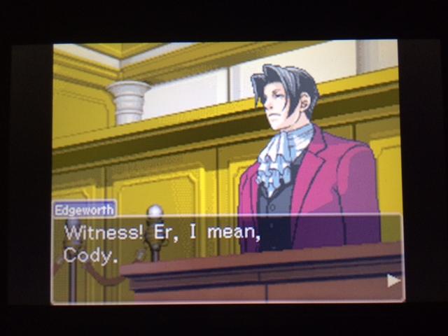 逆転裁判 北米版 コーディー入廷21