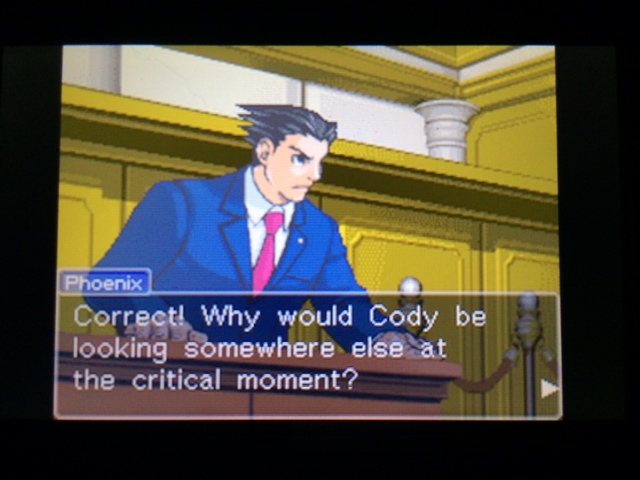 逆転裁判 北米版 コーディーが見ていなかった理由16