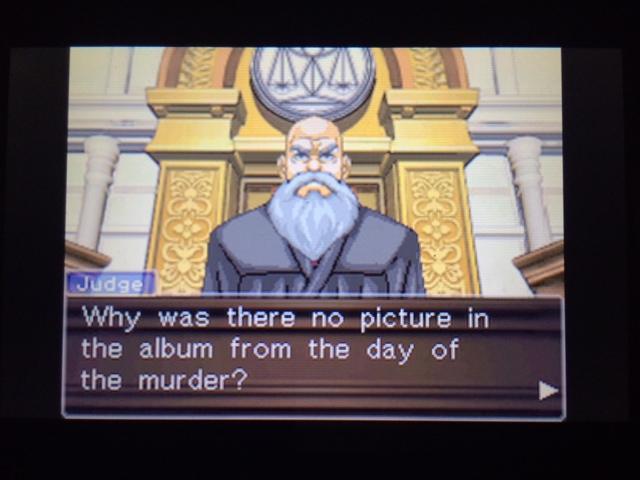 逆転裁判 北米版 写真を撮らなかった理由20