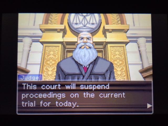 逆転裁判 北米版 ウィル審理二日目終了1