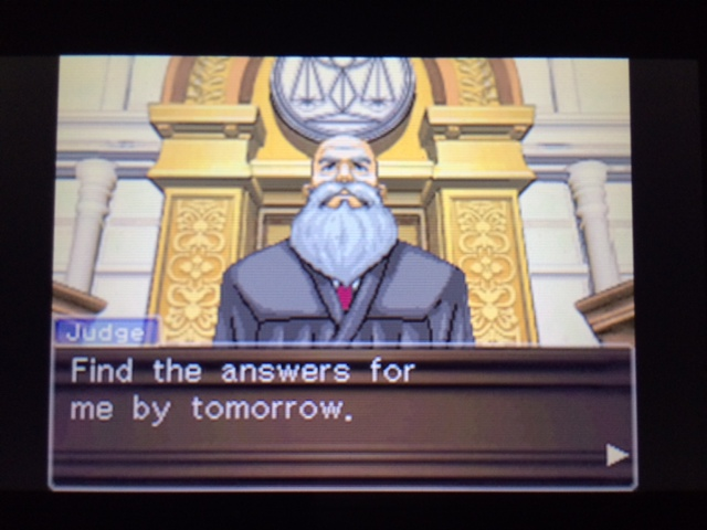 逆転裁判 北米版 ウィル審理二日目終了10