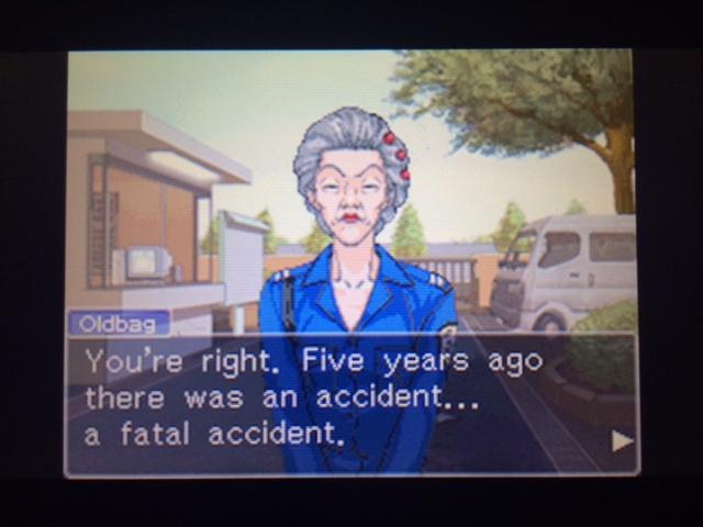 逆転裁判 北米版 5年前の事故3