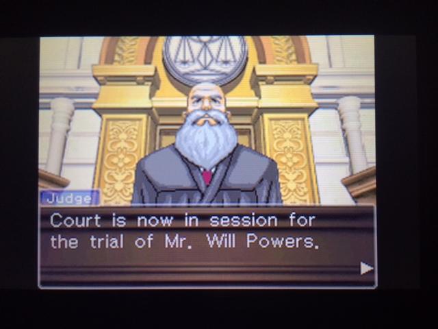 逆転裁判 北米版 ウィル・パワーズ審理最終日オープニング2