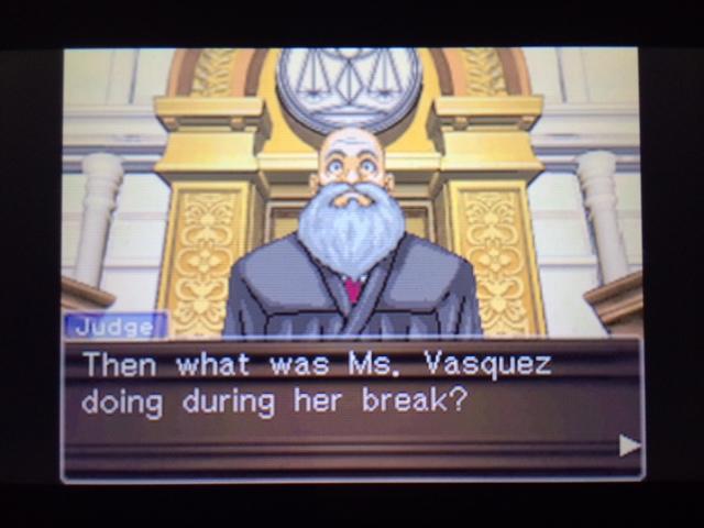 逆転裁判 北米版 ヴァスケズ最初の証言45