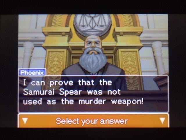 逆転裁判 北米版 本当の凶器3