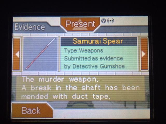 逆転裁判 北米版 本当の凶器4