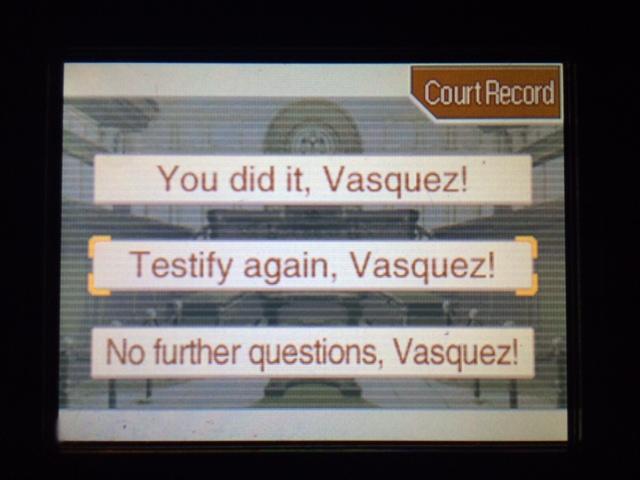 逆転裁判 北米版 ヴァスケズの証言終了?13