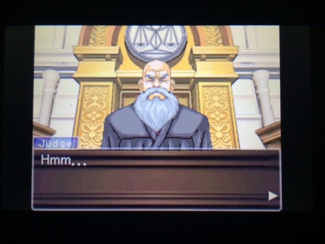 逆転裁判 北米版 エッジワース検事の反対尋問1