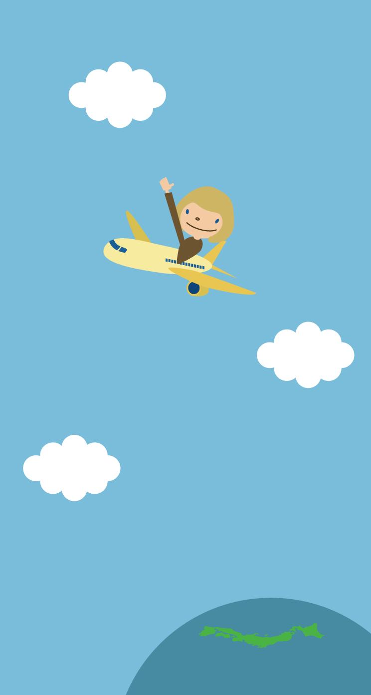 飛行機壁紙iPhone用744×1392