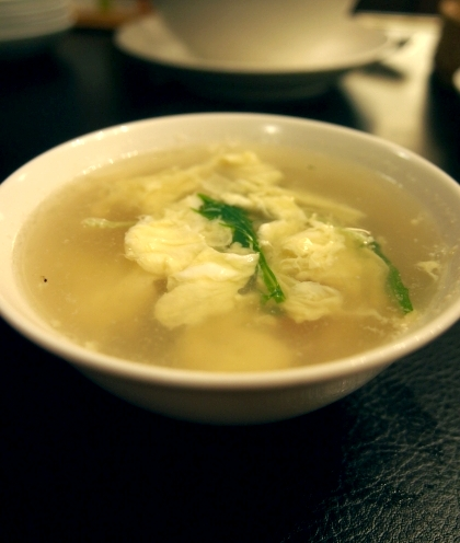 共栄飯店 有精卵の卵スープ
