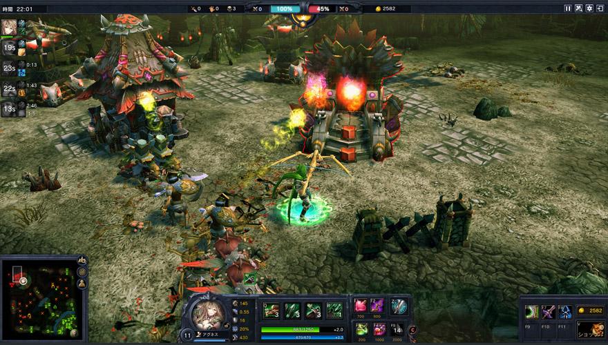 対戦型戦略オンラインゲーム『カオス ヒーローズ オンライン』