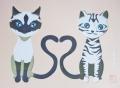 彫紙アート猫1