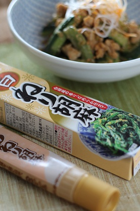 胡瓜のゴマ味噌そぼろ炒め1