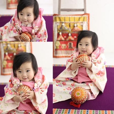 桃の節句 赤ちゃん着物