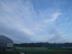[写真]久し振りに見る青い空と白い雲
