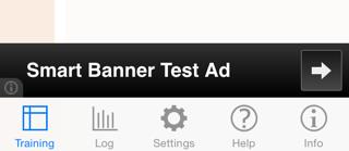 AdMob test banner