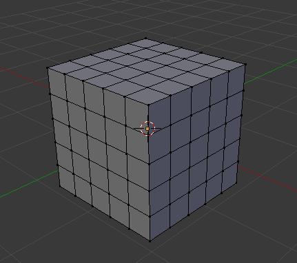 Blenderで作成した立方体
