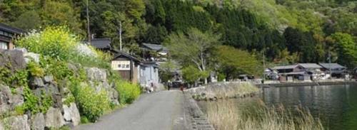 菅浦集落びわ湖沿いs