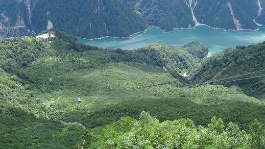 トロリーバス開通50週年記念 黒部ダム (2014年8月)