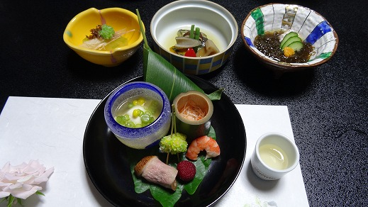 昼神温泉 ホテル はなや 食事編 (2014年8月)
